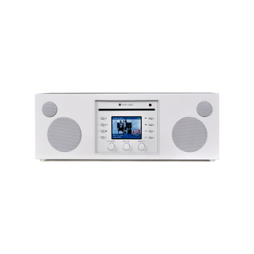 Systeme Audio Musica Piano White Como Audio (CD.FM.DAB.DAB+.WiFi.Bluetooth)