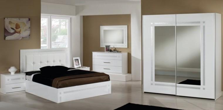 Chambre à coucher PERLA (Blanc), MAGASIN BOUTIQUE DEKOMEUBLES - DECO ...
