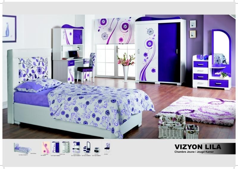 Chambre à coucher enfant VIZYON LILA, MAGASIN BOUTIQUE DEKOMEUBLES ...