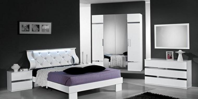 Chambre à coucher ROMINA (Blanc)
