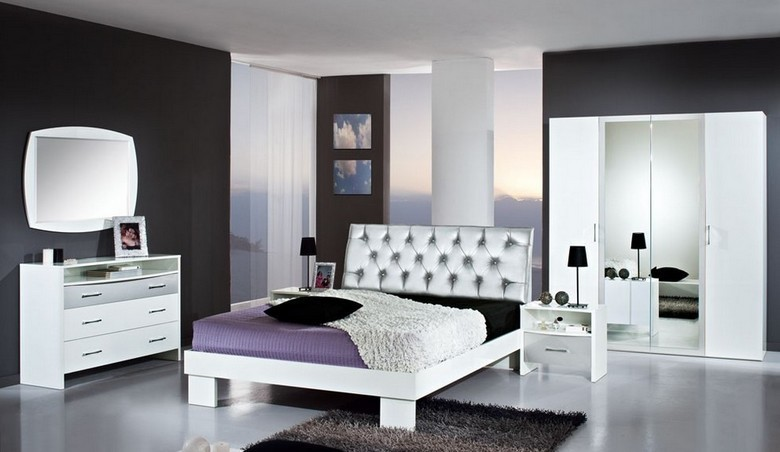 chambre coucher debby night argent magasin boutique dekomeubles deco meubles meubles. Black Bedroom Furniture Sets. Home Design Ideas