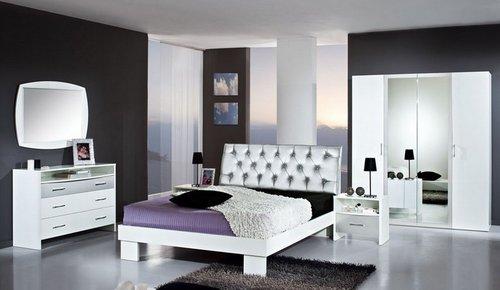 Chambre à coucher DEBBY NIGHT (Argent), MAGASIN BOUTIQUE DEKOMEUBLES ...