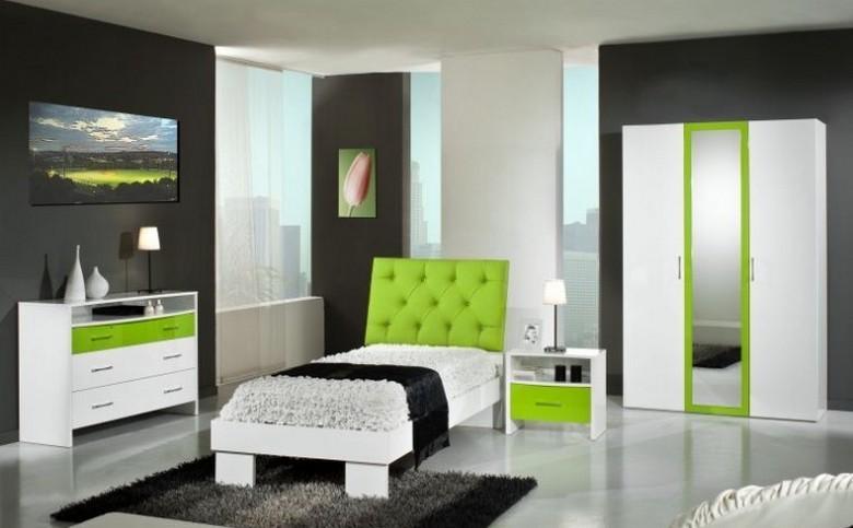 Chambre à coucher DEBBY NIGHT (Vert), MAGASIN BOUTIQUE DEKOMEUBLES ...